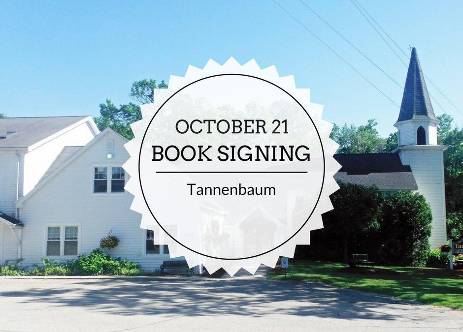 Book Signing | October 21 | Tannenbaum